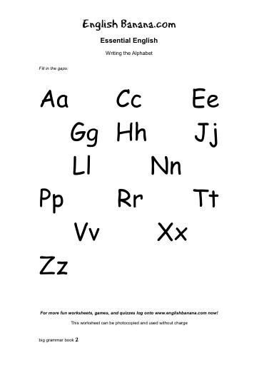 international movement writing alphabet worksheets