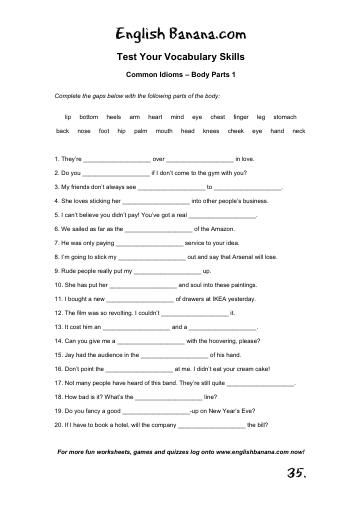 Common Idioms - Body Parts 1 | English Banana