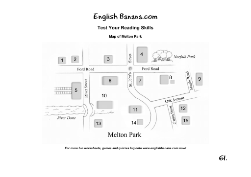 Map of Melton Park English Banana