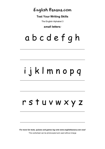 The English Alphabet 3 - Small Letters | English Banana